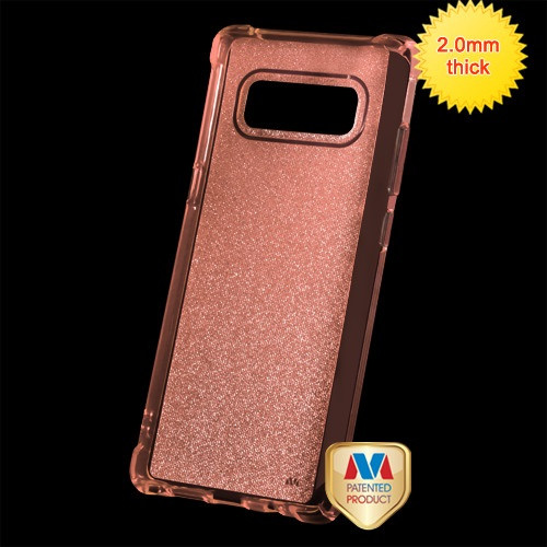 MyBat Sheer Glitter Premium Candy Skin Cover for Samsung Galaxy Note 8 - Transparent Rose Gold