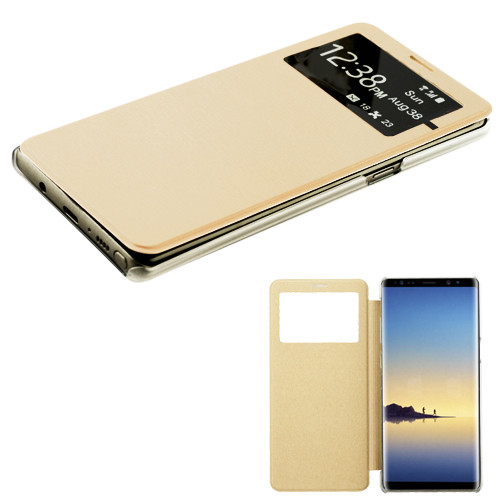MyBat Silk Texture MyJacket (with Transparent Frosted Tray) for Samsung Galaxy Note 8 - Gold