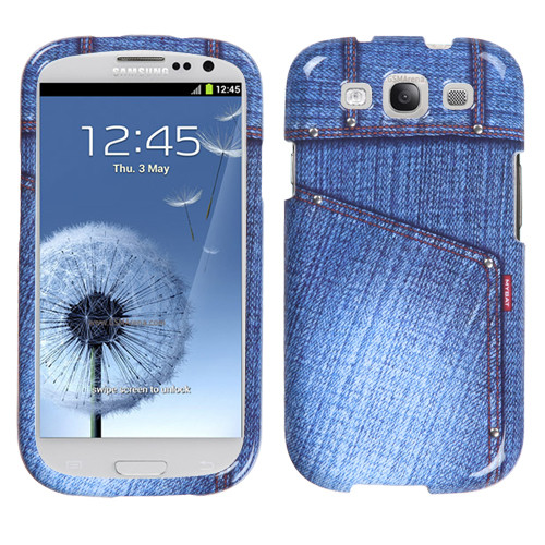 MyBat Protector Cover for Samsung Galaxy S III (i747/L710/T999/i535/R530/i9300) - Blue Jeans with Studs