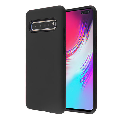 MyBat Fuse Hybrid Protector Cover for Samsung Galaxy S10 5G - Rubberized Black / Black