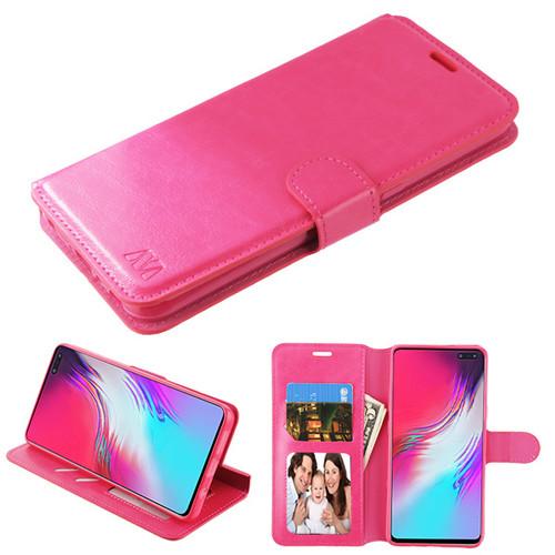 MyBat MyJacket Wallet Element Series for Samsung Galaxy S10 5G - Hot Pink