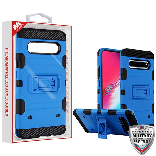 MyBat Storm Tank Hybrid Protector Cover [Military-Grade Certified] for Samsung Galaxy S10 5G - Blue / Black