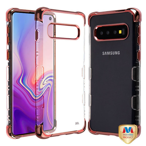 MyBat TUFF Klarity Lux Candy Skin Cover for Samsung Galaxy S10 - Rose Gold Plating