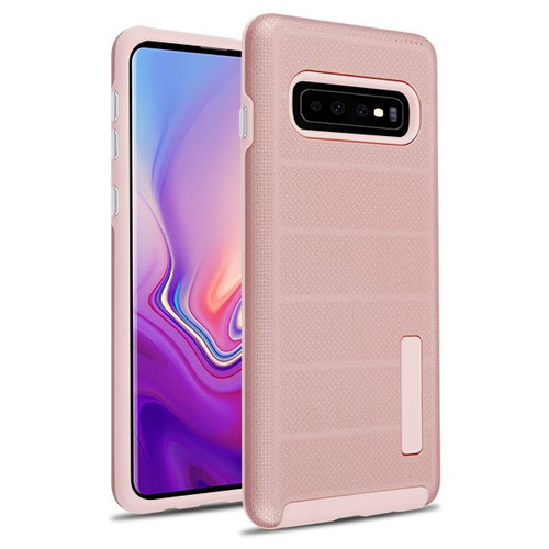 MyBat Fusion Protector Cover for Samsung Galaxy S10 - Rose Gold Dots Textured / Rose Gold
