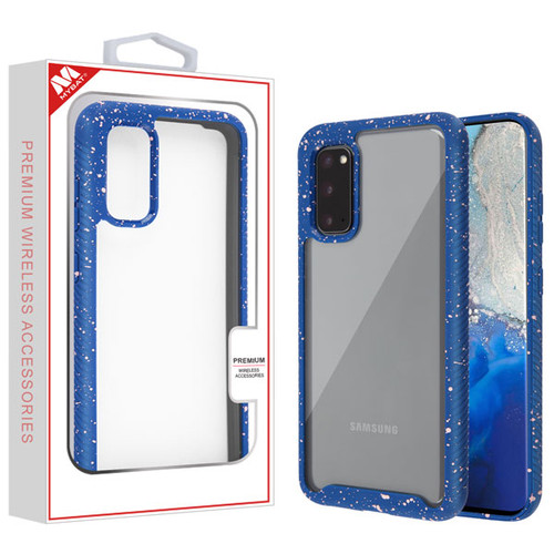 MyBat Splash Hybrid Case for Samsung Galaxy S20 (6.2) - Highly Transparent Clear / Blue