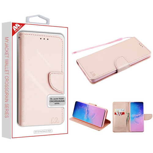 MyBat Liner MyJacket Wallet Crossgrain Series for Samsung Galaxy S20 Ultra (6.9) - Rose Gold Pattern / Rose Gold