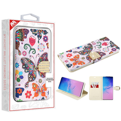 MyBat MyJacket Wallet Diamond Series for Samsung Galaxy S20 Ultra (6.9) - Butterfly Wonderland