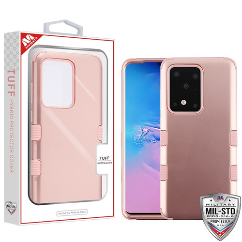 MyBat TUFF Hybrid Protector Cover [Military-Grade Certified] for Samsung Galaxy S20 Ultra (6.9) - Rose Gold / Rose Gold