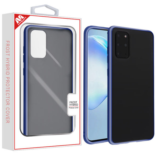 MyBat Frost Hybrid Protector Cover for Samsung Galaxy S20 PLUS (6.7) - Semi Transparent Smoke Frosted / Rubberized Ink Blue