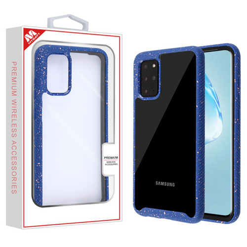 MyBat Splash Hybrid Case for Samsung Galaxy S20 PLUS (6.7) - Highly Transparent Clear / Blue
