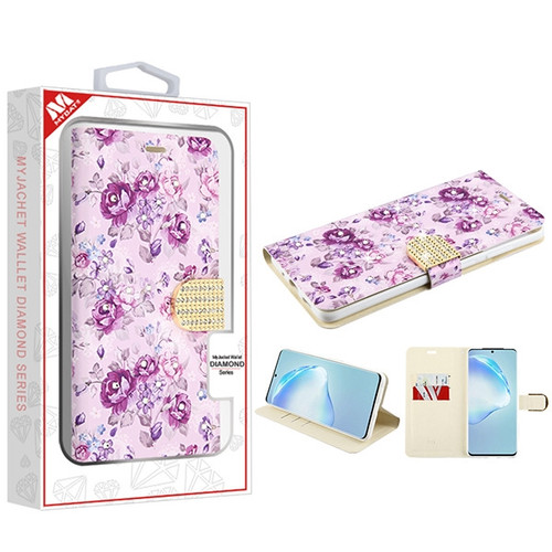 MyBat MyJacket Wallet Diamond Series for Samsung Galaxy S20 PLUS (6.7) - Fresh Purple Flowers