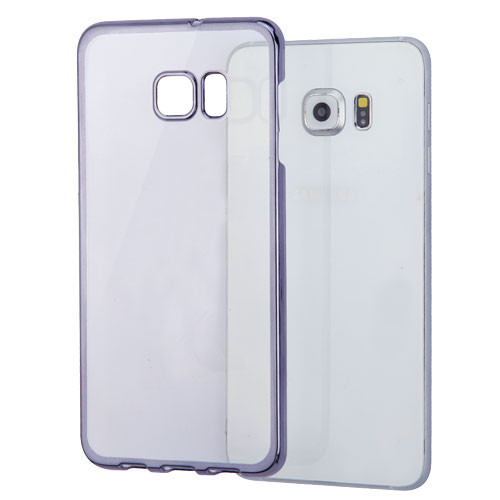 MyBat Back Protector Cover With Black-Plating Frame for Samsung Galaxy S6 edge Plus - T-Clear