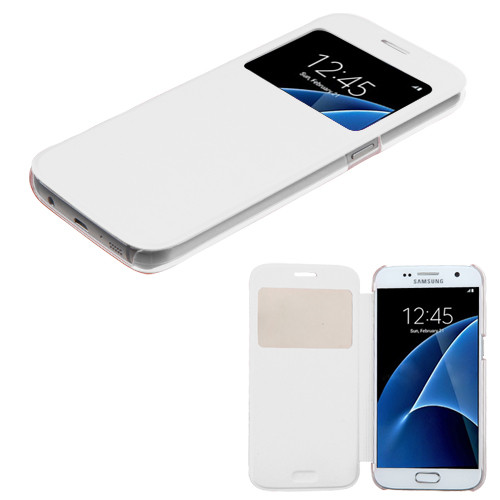 MyBat Silk Texture MyJacket (with Transparent Frosted Tray) for Samsung G930 (Galaxy S7) - White