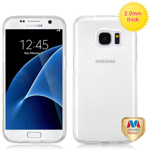 MyBat SPOTS Candy Skin Cover for Samsung G930 (Galaxy S7) - Glassy Transparent Clear