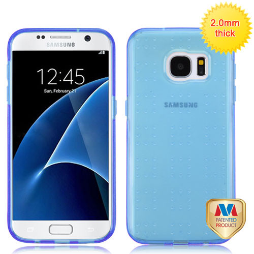 MyBat SPOTS Candy Skin Cover for Samsung G930 (Galaxy S7) - Glassy Transparent Baby Blue