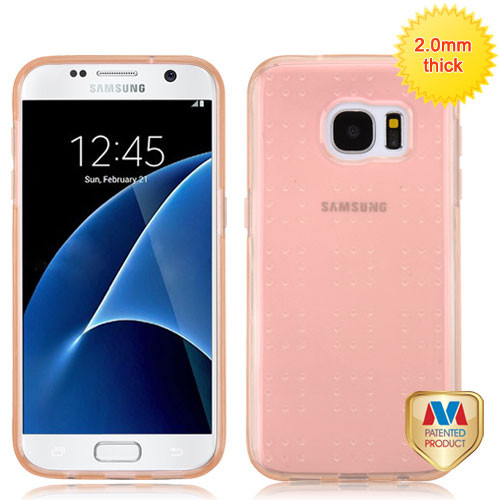 MyBat SPOTS Candy Skin Cover for Samsung G930 (Galaxy S7) - Glassy Transparent Rose Gold