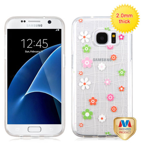 MyBat Glassy SPOTS Premium Candy Skin Cover for Samsung G930 (Galaxy S7) - Tiny Blossoms