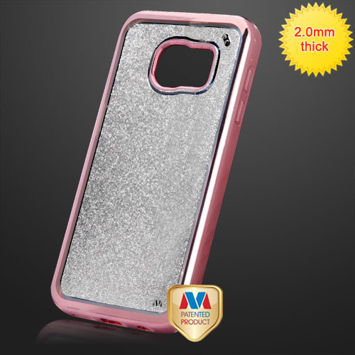 MyBat Sheer Glitter Electroplated Premium Candy Skin Cover for Samsung G930 (Galaxy S7) - Rose Gold