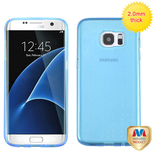 MyBat SPOTS Candy Skin Cover for Samsung G935 (Galaxy S7 Edge) - Glassy Transparent Baby Blue