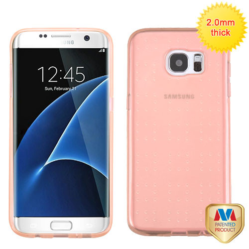 MyBat SPOTS Candy Skin Cover for Samsung G935 (Galaxy S7 Edge) - Glassy Transparent Rose Gold