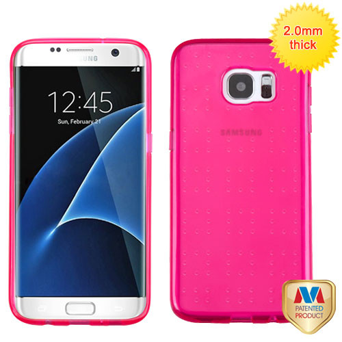 MyBat SPOTS Candy Skin Cover for Samsung G935 (Galaxy S7 Edge) - Glassy Transparent Hot Pink