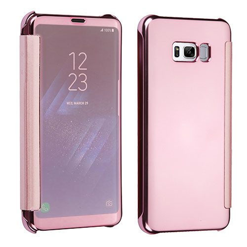 MyBat High-gloss Executive Protector Cover for Samsung Galaxy S8 - Rose Gold Electroplating