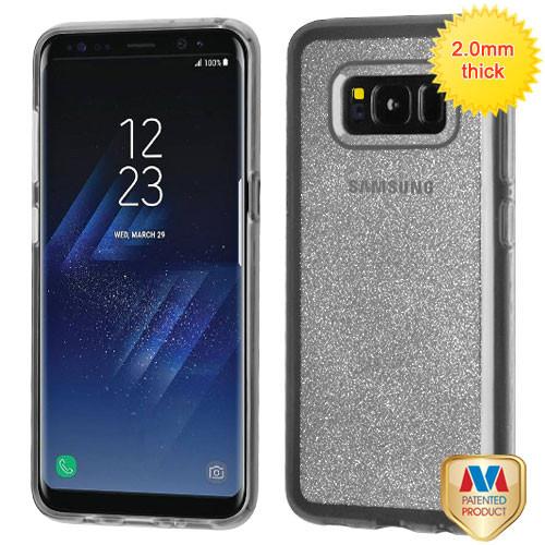 MyBat Sheer Glitter Premium Candy Skin Cover for Samsung Galaxy S8 Plus - Transparent Clear