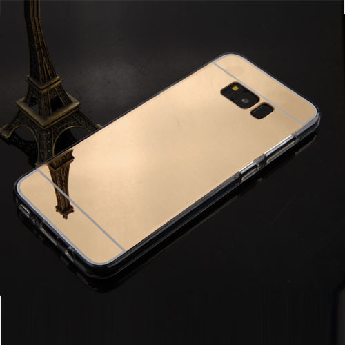 MyBat Gummy Cover for Samsung Galaxy S8 Plus - Gold / Transparent Clear
