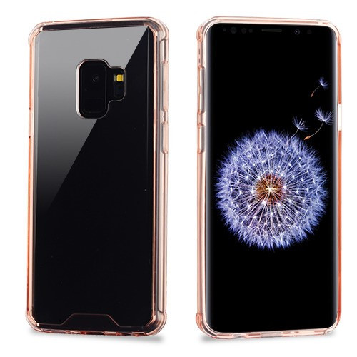 MyBat Sturdy Gummy Cover for Samsung Galaxy S9 - Highly Transparent Clear / Transparent Rose Gold