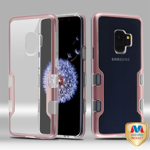 MyBat TUFF Panoview Hybrid Protector Cover for Samsung Galaxy S9 - Metallic Rose Gold / Transparent Clear