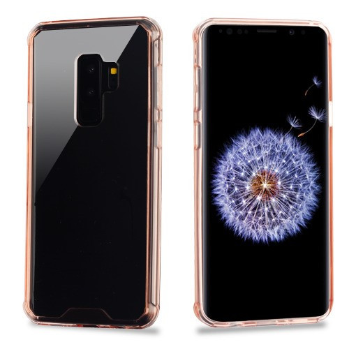 MyBat Sturdy Gummy Cover for Samsung Galaxy S9 Plus - Highly Transparent Clear / Transparent Rose Gold