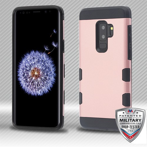 MyBat TUFF Trooper Hybrid Protector Cover [Military-Grade Certified] for Samsung Galaxy S9 Plus - Rose Gold / Black