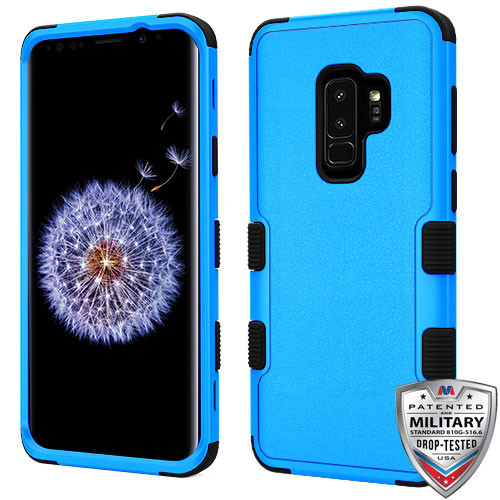 MyBat TUFF Hybrid Protector Cover [Military-Grade Certified] for Samsung Galaxy S9 Plus - Natural Dark Blue / Black