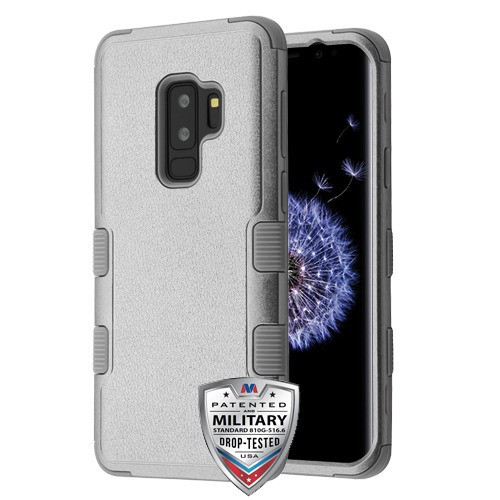 MyBat TUFF Hybrid Protector Cover [Military-Grade Certified] for Samsung Galaxy S9 Plus - Textured Copper Grey / Iron Gray