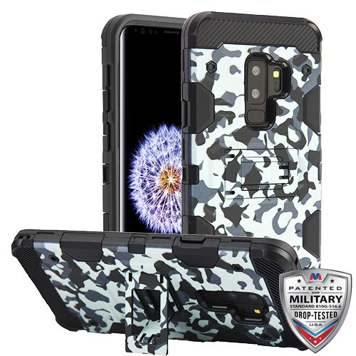 MyBat Storm Tank Hybrid Protector Cover [Military-Grade Certified] for Samsung Galaxy S9 Plus - Urban Camouflage / Black