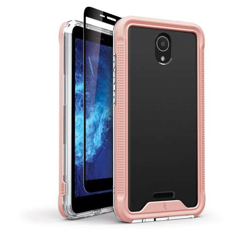ZIZO ION Series for Cricket Icon 2 Case - Military Grade Drop Tested with Tempered Glass Screen Protector - Rose Gold IONC-CKIC2-RGDCL