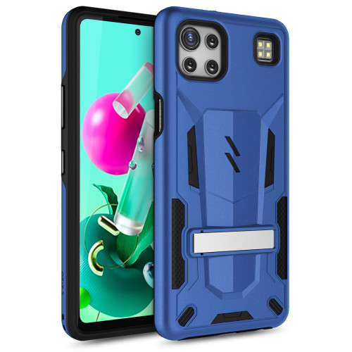 ZIZO TRANSFORM Series for LG K92 5G Case - Rugged Dual-layer Protection with Kickstand - Blue TFM-LGK92-BLBK
