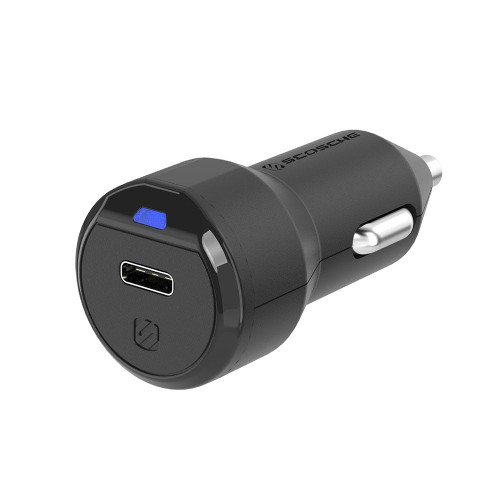 Scosche 18w Fast USB-C Car Charger - Black SCO-CPDC8-S-BK