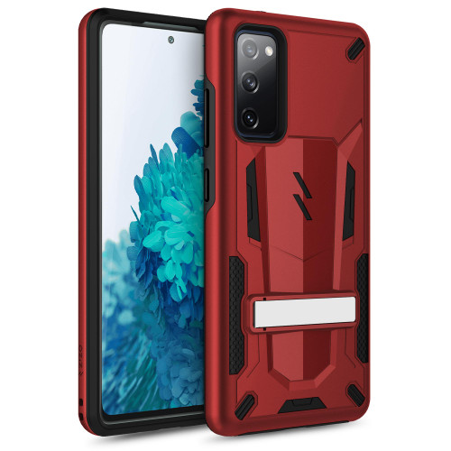 ZIZO TRANSFORM Series for Galaxy S20 FE Case - Rugged Dual-layer Protection with Kickstand - Red TFM-SAMGS20FE-RDBK
