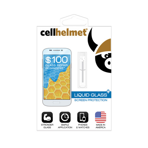 Cellhelmet Liquid Glass+ Screen Protection with $100 Screen Repair Guarantee LSP-PHONE-PLUS