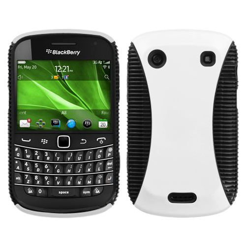 Asmyna Mixy Protector Case for Blackberry 9930 (Bold) / 9900 (Bold) - Rubberized White / Black