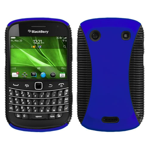 Asmyna Mixy Protector Case for Blackberry 9930 (Bold) / 9900 (Bold) - Rubberized Dark Blue / Black