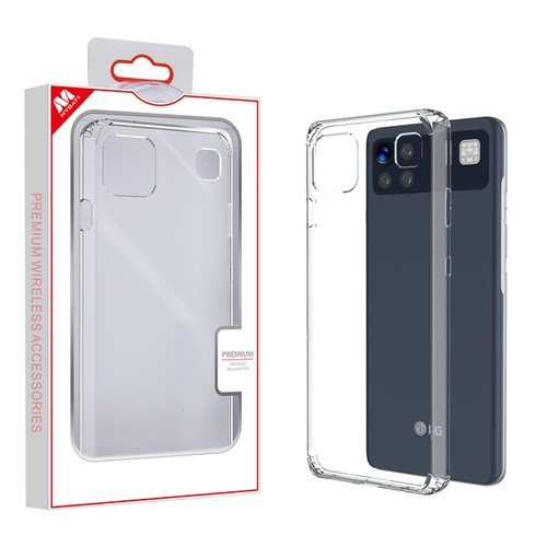 MyBat Sturdy Gummy Case for Lg K92 5G - Highly Transparent Clear / Transparent Clear