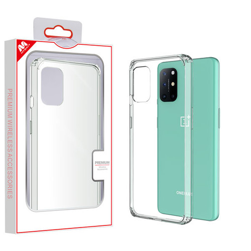MyBat Sturdy Gummy Case for Oneplus 8T - Highly Transparent Clear / Transparent Clear