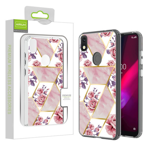 Airium Fusion Protector Cover for T-mobile REVVL 4 / TCL Revvl 4 - Electroplated Roses Marbling