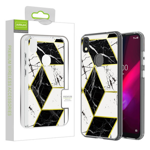 Airium Fusion Protector Cover for T-mobile REVVL 4 / TCL Revvl 4 - Electroplated Black Marbling