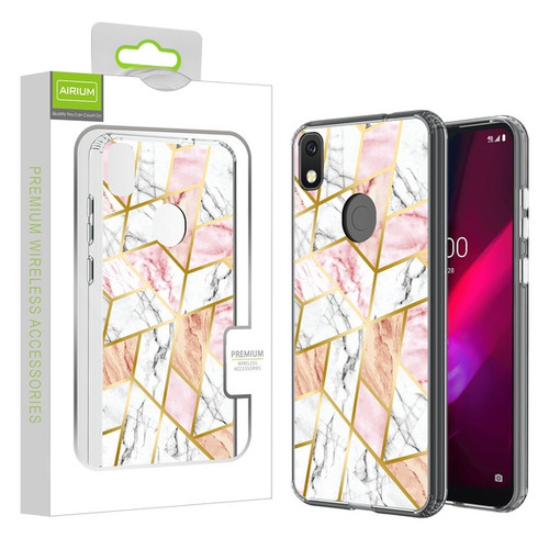 Airium Fusion Protector Cover for T-mobile REVVL 4 / TCL Revvl 4 - Electroplated Pink Marbling