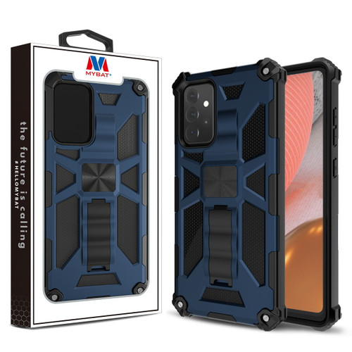 MyBat Sturdy Hybrid Protector Cover (with Stand) for Samsung Galaxy A72 5G - Ink Blue / Black