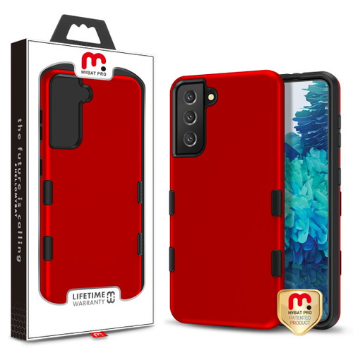MyBat Pro TUFF Subs Hybrid Case for Samsung Galaxy S21 Plus - Titanium Red / Black