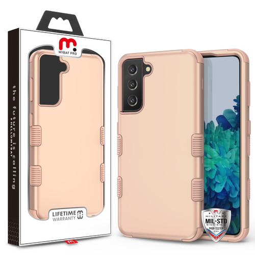 MyBat Pro TUFF Hybrid Protector Cover [Military-Grade Certified] for Samsung Galaxy S21 Plus - Rose Gold / Rose Gold